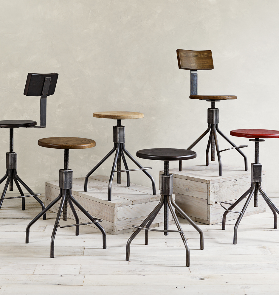 & Industrial Adjustable Chair Stool | Rejuvenation islam-shia.org