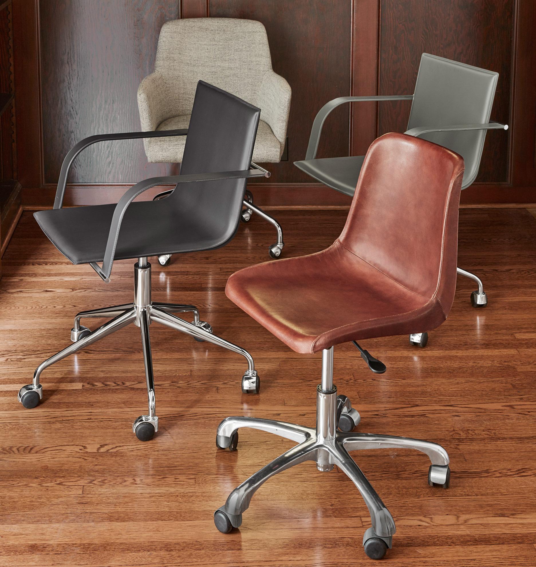 Cartwright Italian Leather Desk Chair