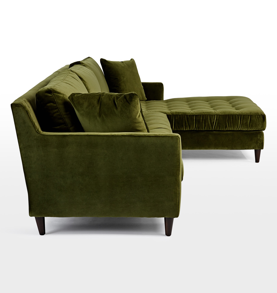 Hastings Sectional Sofa Chaise Right Rejuvenation - Sofa club