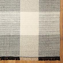 Plaid Flatweave Rug