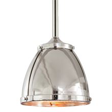 Laurelhurst 8in. Pendant with Metal Dome and Prismatic Dome