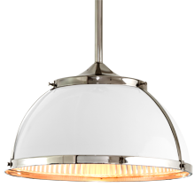 Laurelhurst 16in. Pendant with Metal and Prismatic Domes