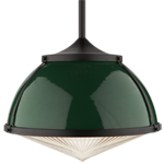 Laurelhurst 16in. Pendant with Metal Dome and Glass Lens