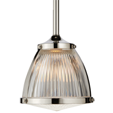 Laurelhurst 8in. Pendant with Prismatic Dome and Glass Lens