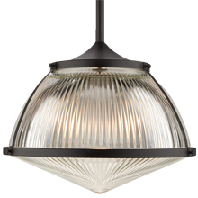 Laurelhurst 16in. Pendant with Prismatic Dome and Glass Lens