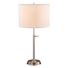 Keystick Table Lamp - Brushed Nickel