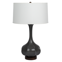 Pike Table Lamp - Matte Gray