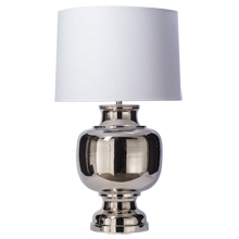 Ball Table Lamp - Polished Nickel