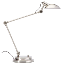 Modern Industrial LED Desk Lamp - Brushed Nickel
