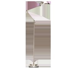 Modern Industrial LED Floor Lamp - Brushed Nickel