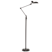 Modern Industrial LED Floor Lamp - Black