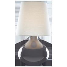 June Ceramic Table Lamp - Ash