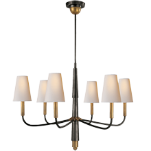 Farlane Small Chandelier - Bronze/Antique Brass