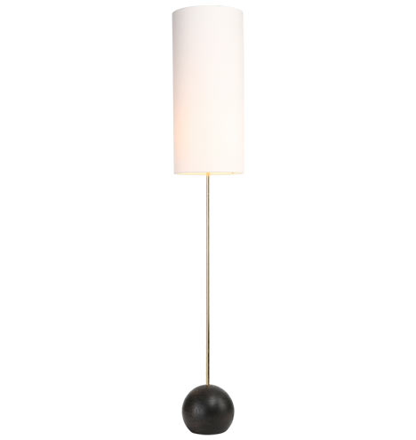 Stand floor lamp 7quot base cylinder shade rejuvenation for Floor lamp with cylinder shade