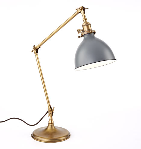 Grandview Task Lamp Aged Brass Fixture Rejuvenation