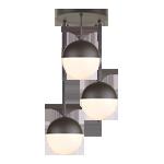 Cedar & Moss 8in 3-Light Multipendant