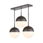 Cedar & Moss 8in 3-Light Multipendant 20in Rectangle - Stagger Drop