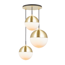 Cedar & Moss Mixed Globe 3-Light Multipendant