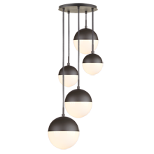 Cedar & Moss Mixed Globe 5-Light Multipendant