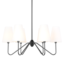 Berkshire 6-Arm Chandelier - Oil-Rubbed Bronze with Linen Shades