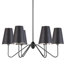 Berkshire 6-Arm Chandelier with Metal Shades