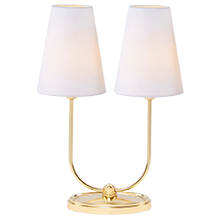 Berkshire Double Lamp with Linen Shades