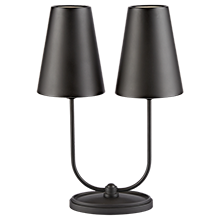 Berkshire Double Lamp with Metal Shades