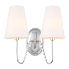 Berkshire Double Sconce with Linen Shades