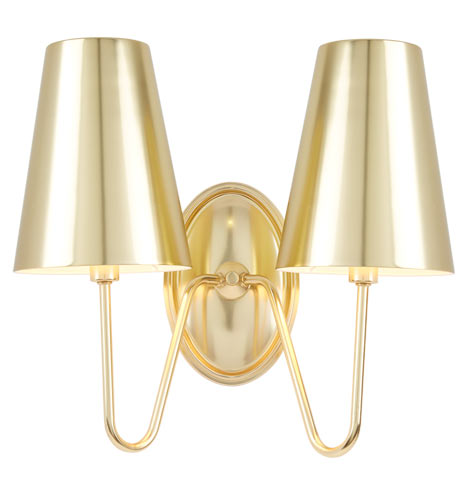 Berkshire Double Sconce With Metal Shades Rejuvenation