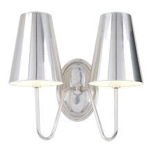 Berkshire Double Sconce with Metal Shades