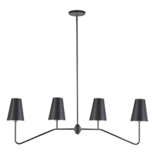 Berkshire Linear Pendant - Oil-Rubbed Bronze with Metal Shades