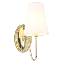 Berkshire Single Sconce with Linen Shades