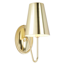 Berkshire Single Sconce with Metal Shades