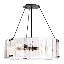 Willamette Large Fluted Glass Chandelier