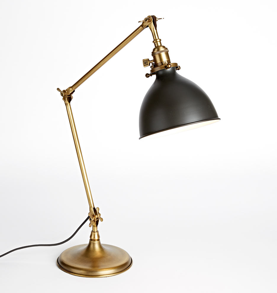 Grandview Task Lamp - Aged Brass fixture | Rejuvenation