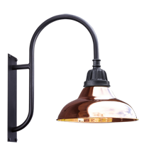 "Carson Shepherd's Hook Wall Sconce - 16"" Shade"