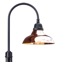 "Carson Shepherd's Hook Post Light - 16"" Shade"