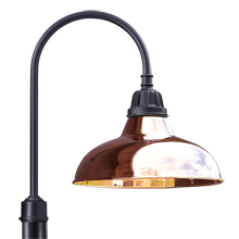 "Carson Shepherd's Hook Post Light - 20"" Shade"