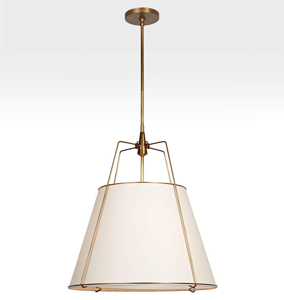 Drum Pendant Lighting 86 Natural Linen Lamp Shade 4