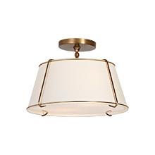 conical drum semiflush fixture - Semi Flush Mount Lighting