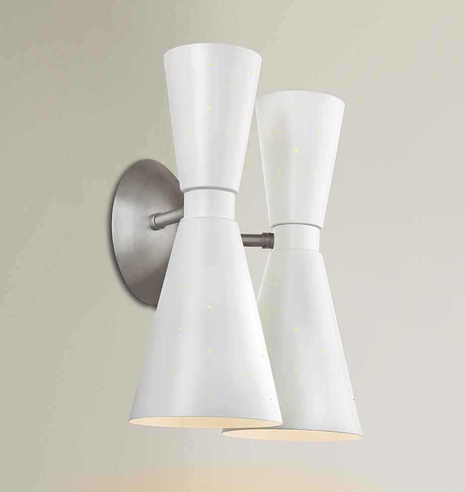 Bathroom Lighting Mid Century Modern galaxy double sconce | rejuvenation