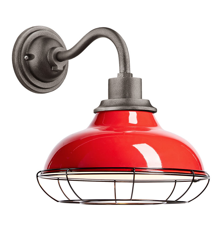 Carson 12 Quot Wall Sconce With Cage Tomato Red Rejuvenation