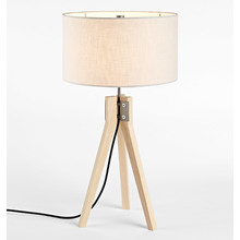 Folk Table Lamp - Ash