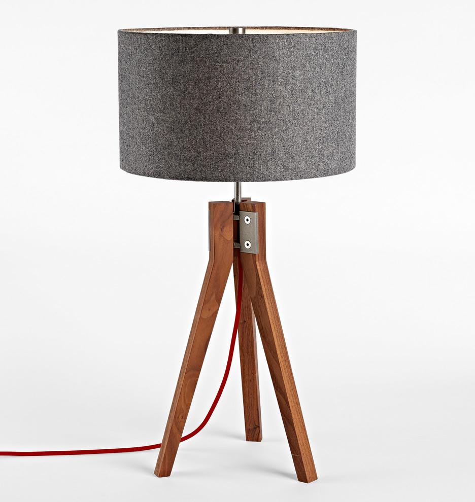 Folk tripod table lamp walnut rejuvenation geotapseo Image collections