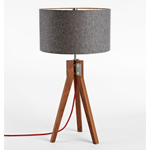 Folk Table Lamp - Walnut