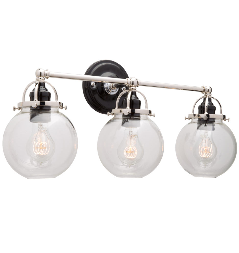 Bathroom Sconces With Switch mist triple sconce | rejuvenation