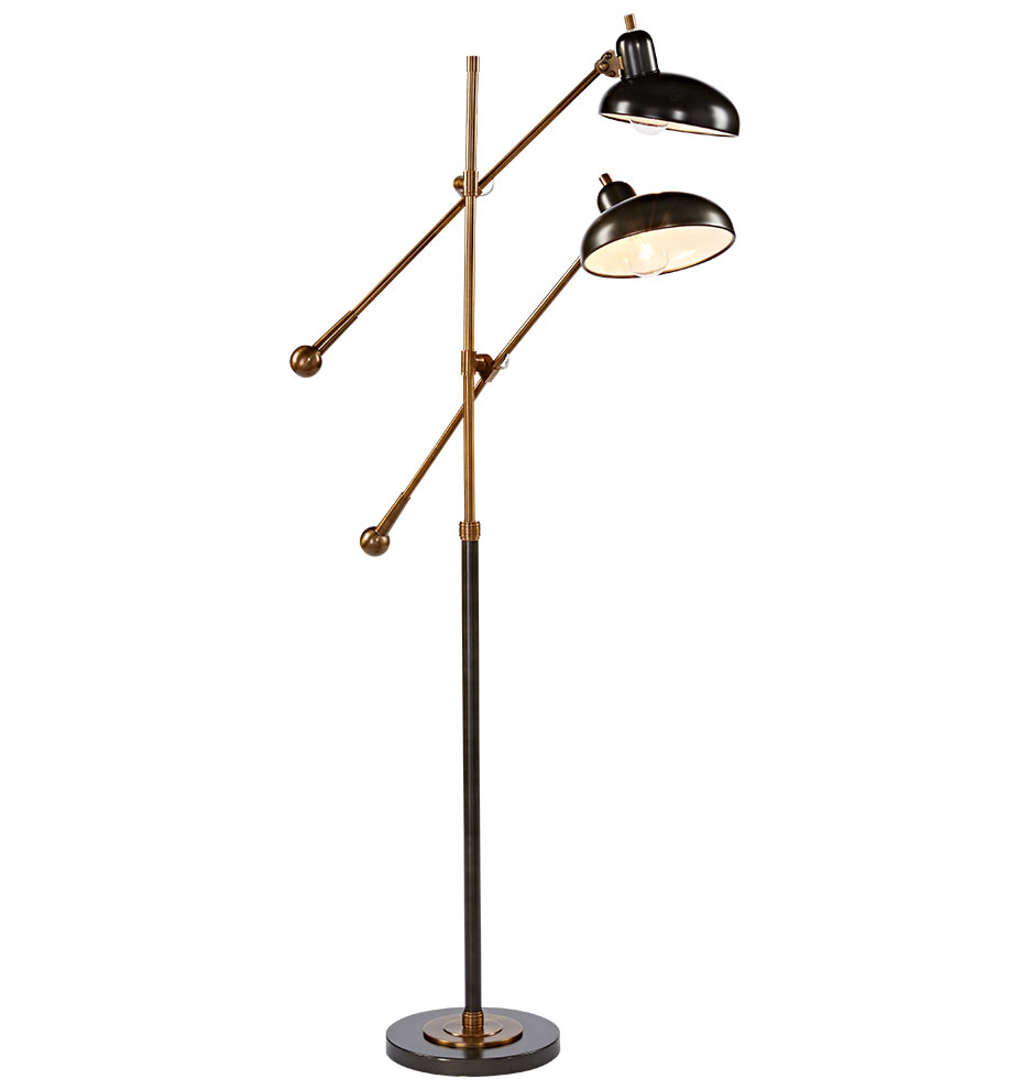 bruno double arm floor lamp rejuvenation. Black Bedroom Furniture Sets. Home Design Ideas