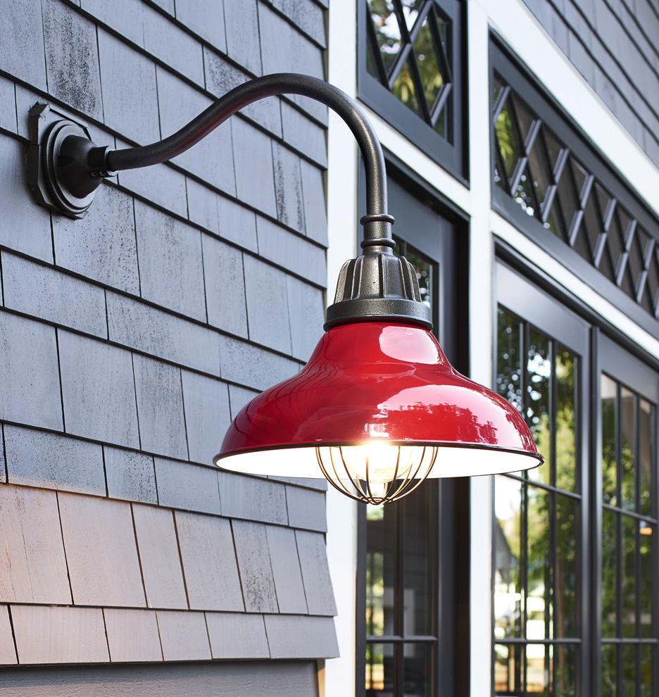 Lights On Inside Of Garage Door: Carson Gooseneck Wall Mount
