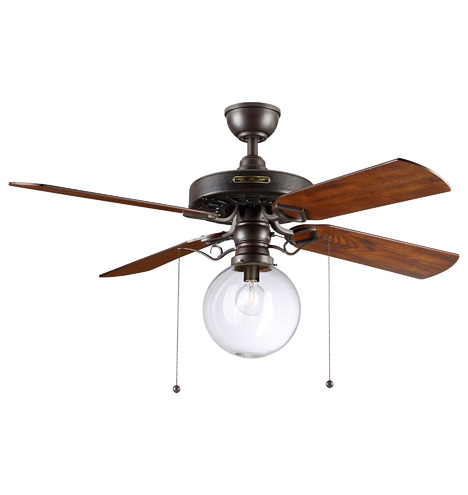 Heron Ceiling Fan With Clear Globe Shade 4 Blade Ceiling