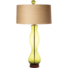 Olive Wave Table Lamp